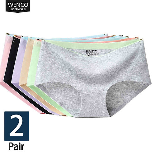 1/2Pcs Briefs Panties for Women Cotton Seamless Panties Woman