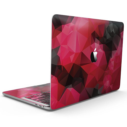 Bright Pink and Gray Geomtric Triangles - MacBook Pro with Touch Bar