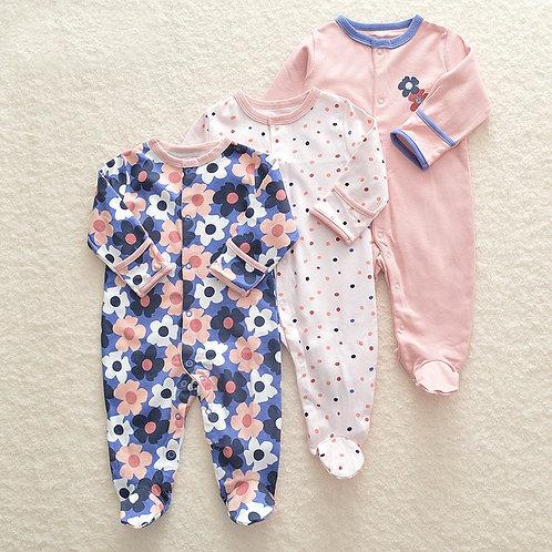 3Pcs/Lot Newborn Baby Romper Set