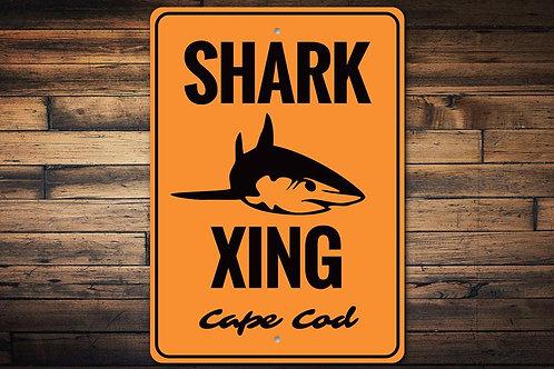 Cape Cod Shark Crossing Sign