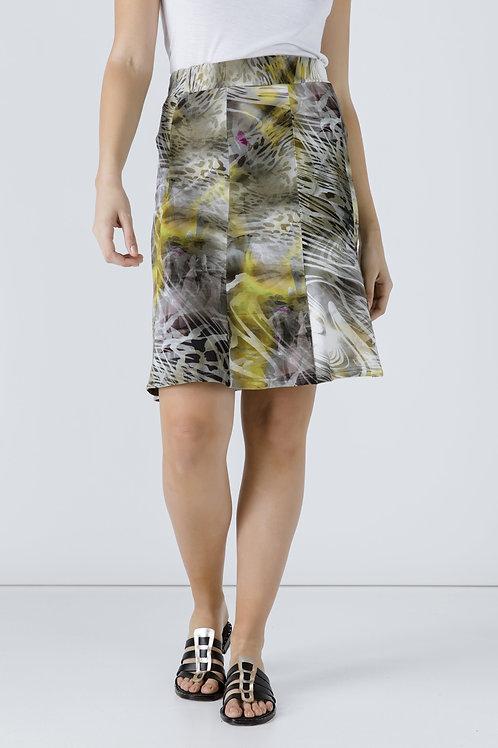Animal Print Cloche Skirt