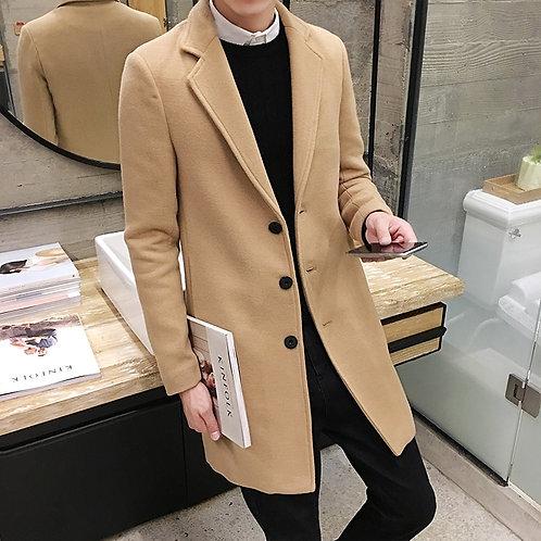 Autumn and Winter New Men's Woolen Coat