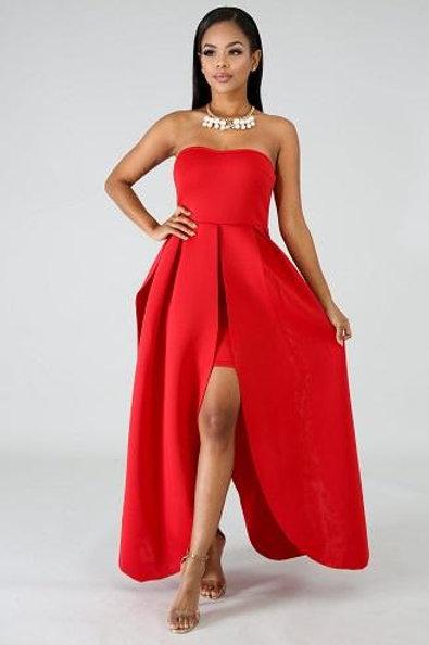 Carina Red Dress