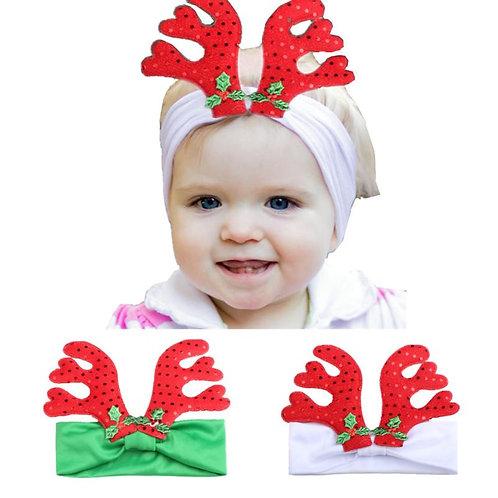 Baby Kids Elastic Floral Christmas Headband Hair