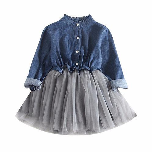 Best sale Toddler Baby Girls dress Denim mini