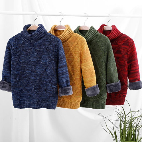 de Sweaters Girls Winter Autumn Knitted Loose Jacket 2-10y Child Tops