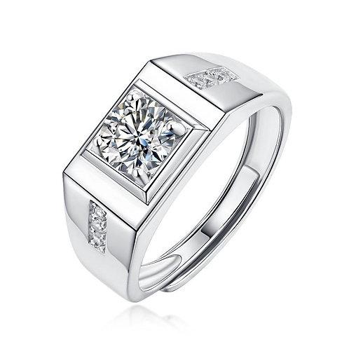 925 Sterling Silver Moissanite Ring For Men fashion diamond rings men