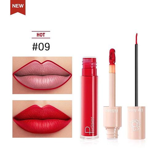 2020 New Pudaier Duo Lip Liner & Matte Liquid Lipstick - Color #09
