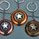 Thumbnail: Captain America Shield Metal Key Chain Gold