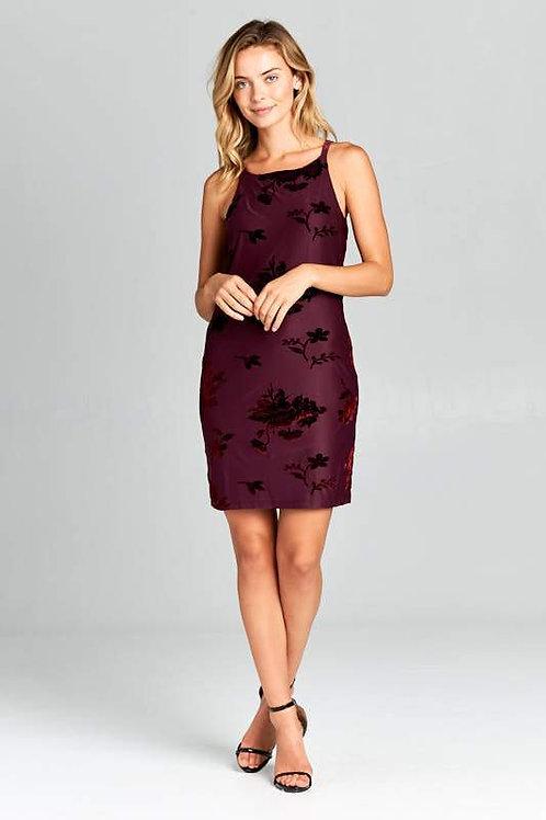 Crushed Velvet Bodycon Mini Dress