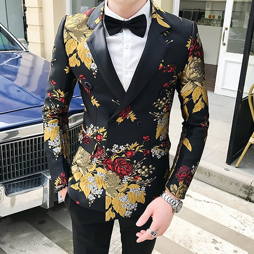 Blazer Hombre Mens Slim Fit Blazer Jacket Busin
