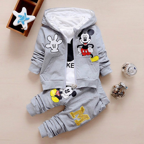 3pcs/Set Baby Boy Girl Clothes Cartoon Mickey Mouse