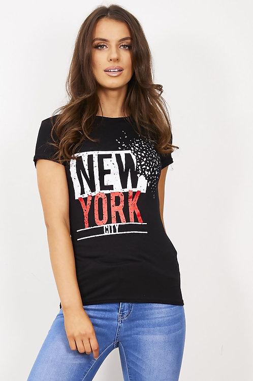 Black New York T-Shirt