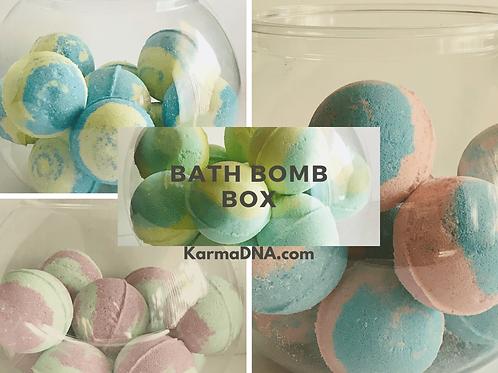 Bath Bomb Box - Set of 4 Natural Bath Bombs with Essential Oils