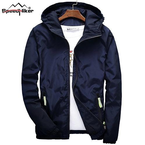 breaker Hooded Jacket Slim Thin Clothing Top Quality Waterproof Plus Size K316