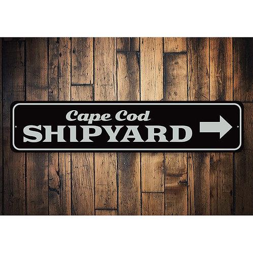 Cape Cod Shipyard Sign