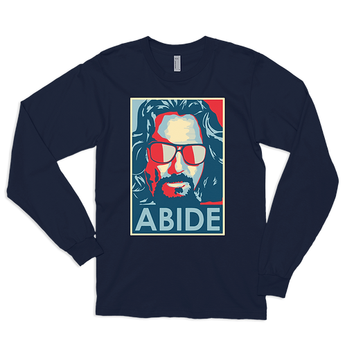 Big Lebowski Abide, Hope Style Long Sleeve Shirt