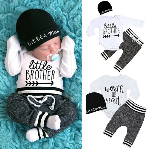 0-18Months Newborn Infant Baby Boy Clothes Cotton Sets