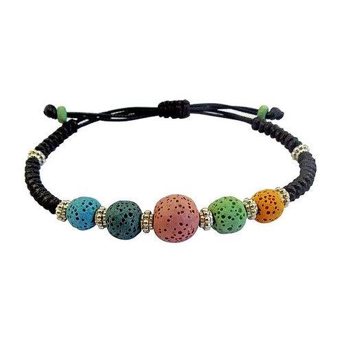 Colorful Lava Stone Bracelet