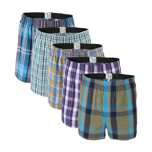5 Pcs Mens Underwear Boxers Shorts Casual Cotton