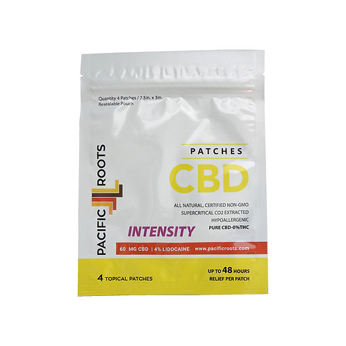 60mg CBD Isolate Patches W/Lidocaine (4 Pack)