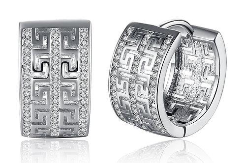 14K Gold Plating Swarovski Elements Pav'e Laser Cut Celtic Design