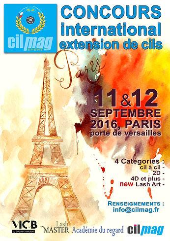 Concours international d'extension de cils organisé par Cilmag Event