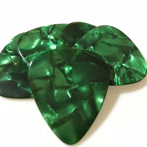 Guitar Celluloid   Green Pearl