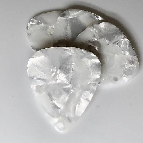 Guitar Celluloid | White Pearl