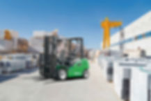 Lithium ion forklift