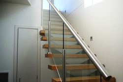 Semi Frameless Stainless with Glass