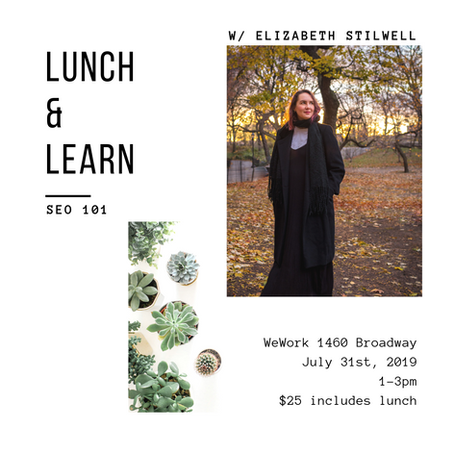 7/31 - Lunch and Learn: SEO 101