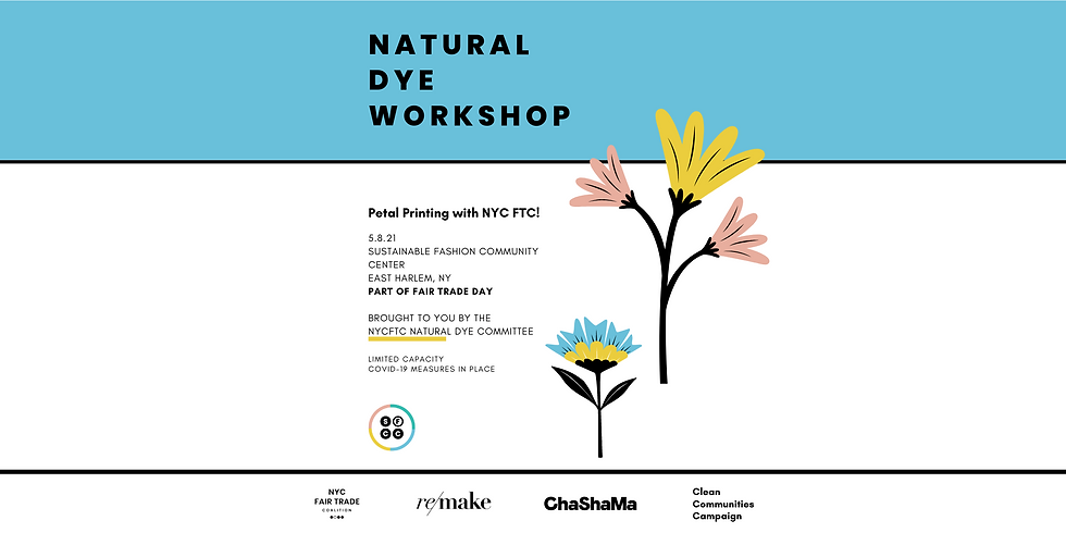 Petal Printing w/ the NYC FTC Natural Dye Committee