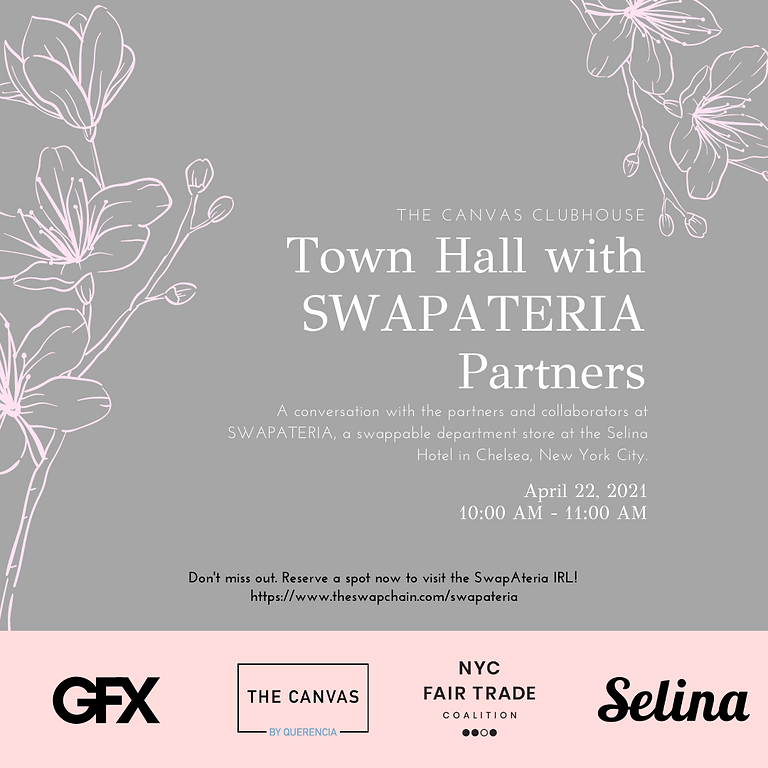 The Canvas Clubhouse Town Hall with SwapAteria Partners