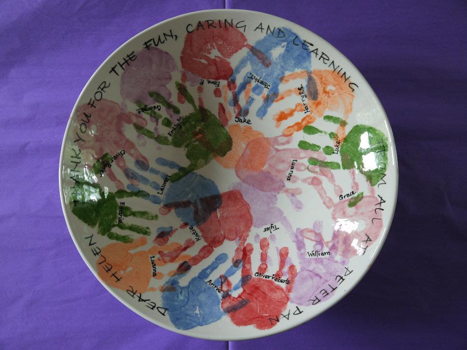 Handprint bowl