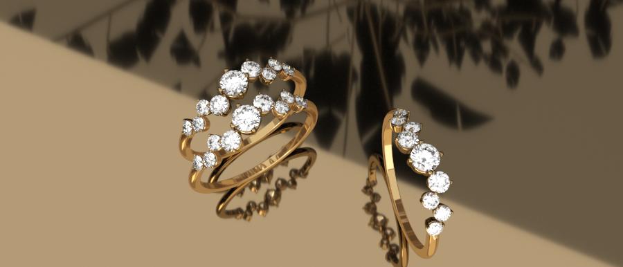 Delphin Slim Diamond Ring