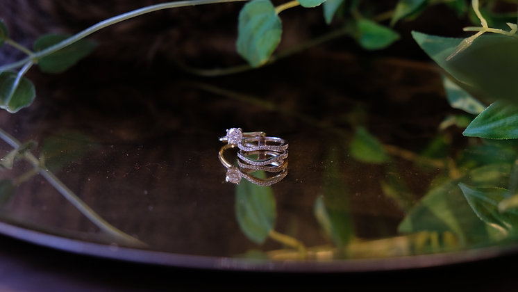 Engagement & Wedding Ring Set