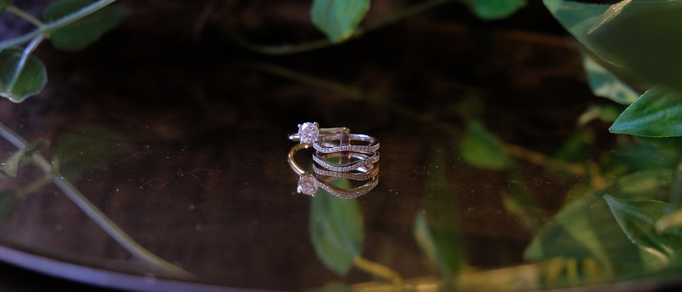 Engagement & Wedding Ring Set