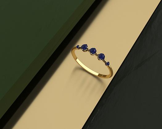 Bouga Blue Slim Ring