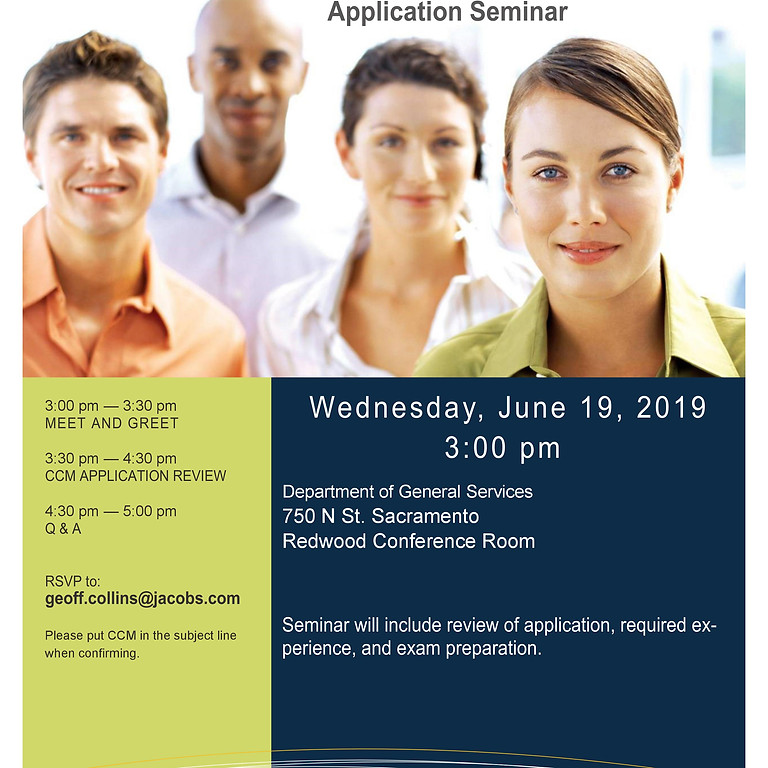 Special Seminar - Certified Construction Manager Application