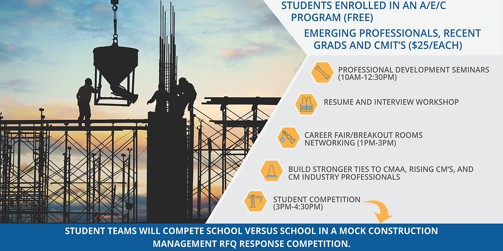 CMAA Virtual Rising CM Conference | Students, Young Professionals, and Sponsorships OPEN NOW