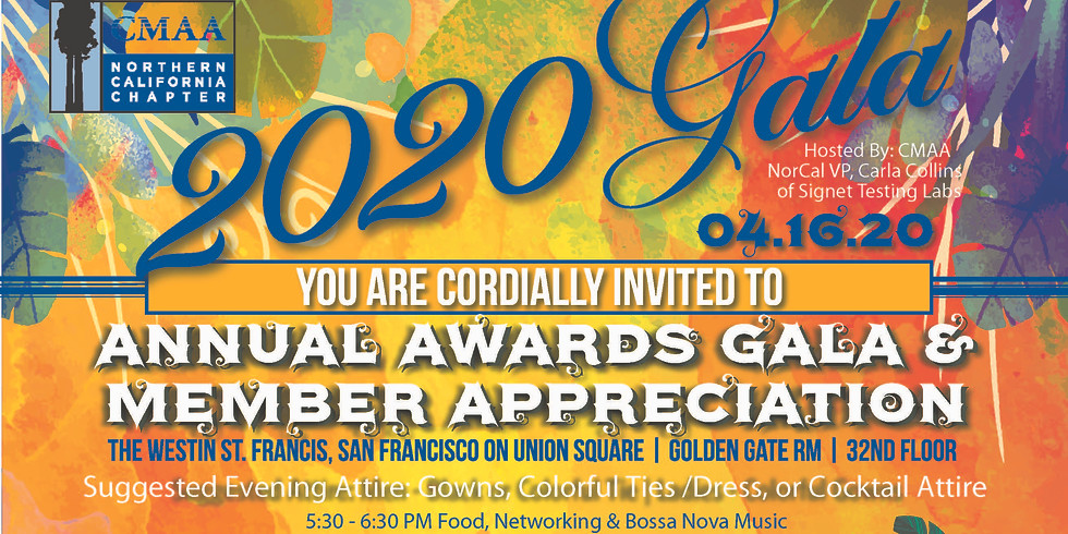 2020 CMAA Northern California Annual Awards Gala & Member Appreciation