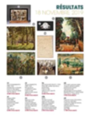 Résultats de la vente aux enchères du 18 novembre 2019, dont la vente d'une partition de Verdi et d'un tableau de Ivan Choultsé.