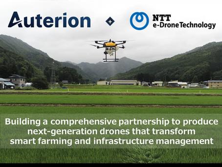 AuterionとNTT e-Drone Technology、戦略的提携に合意