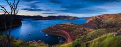 The blue light of Lake Argyle
