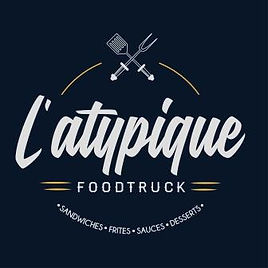 logo latypique food truck burgers sandwiches frites sauces desserts