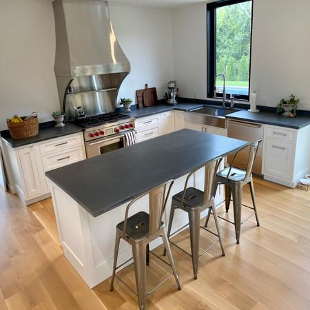 charcoal gray concrete kitchen countertops