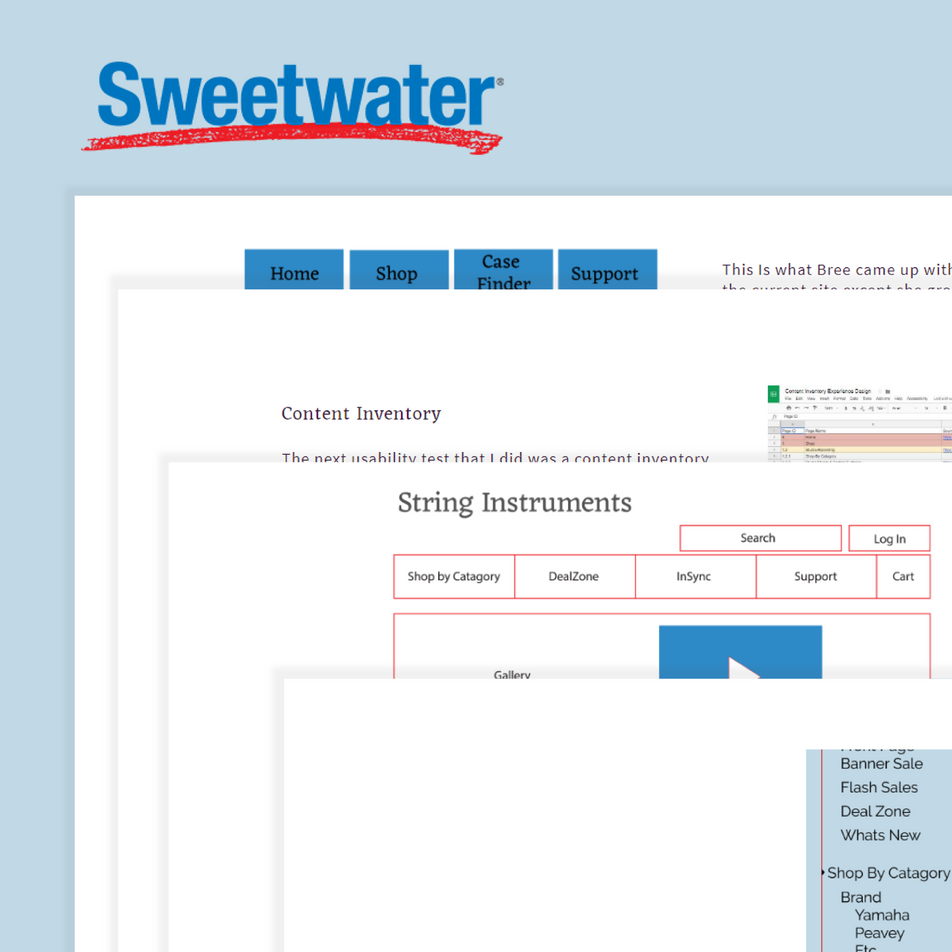 SWEETWATER USER EXPERIENCE CASE STUDY