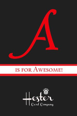 A Is for Awesome! Hester Prynne Postcard