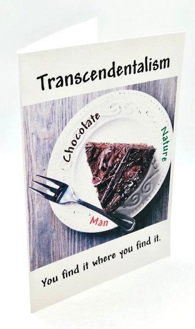 "Notecard: ""Transcendentalism: Chocolate"" (Henry David Thoreau)"